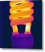 Energy Efficient Fluorescent Light Metal Print