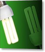 Energy-saving Light Bulbs, Artwork Metal Print by Victor Habbick Visions