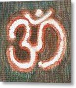 Energy Symbol Om Aum Metal Print