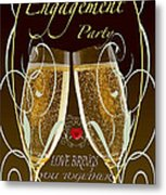 Engagement Party Card Metal Print