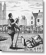 England: Beheading, 1554 Metal Print