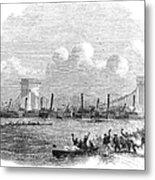 England: Boat Race, 1858 Metal Print