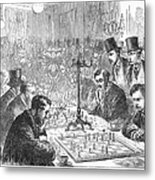 England: Chess Match Metal Print