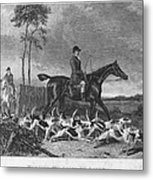 England: Fox Hunt, 1832 Metal Print