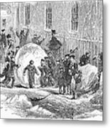 England: Winter, 1855 Metal Print
