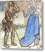 English Beggar, 1330 Metal Print