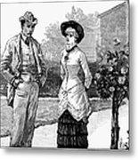 English Couple, 1883 Metal Print