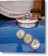 English Racing Automobile Hood Emblem Metal Print