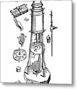 Engraving Of A Culpeper Microscope (1730) Metal Print