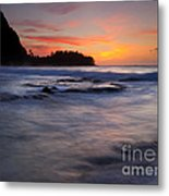 Engulfed By The Sea Metal Print by Mike  Dawson