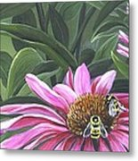 Enjoying The Flowers Metal Print