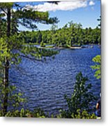 Enjoying The Lake Metal Print