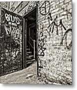 Enter And Proceed With Caution Metal Print