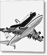 Enterprise Shuttle Ny Flyover Metal Print by Regina Geoghan