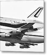 Enterprise Shuttle Nyc -black And White  Metal Print