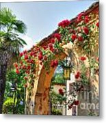 Entrance Arch With Flowers Metal Print