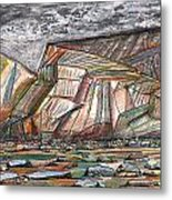 Entrance To Fjords Park Alaska Metal Print
