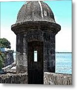 Entrance To Sentry Tower Castillo San Felipe Del Morro Fortress San Juan Puerto Rico Poster Edges Metal Print by Shawn O'Brien