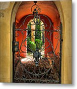 Entrance To Stucco Home Metal Print by Steven Ainsworth