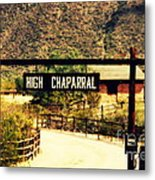 Entrance To The High Chaparral Ranch Metal Print