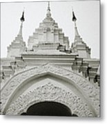 Entrance To Wat Suan Dok Metal Print