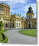 Entrance To Wilanow Palace - Warsaw Metal Print