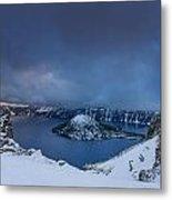 Enveloping Storm At Crater Lake Metal Print