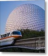 Epcot And Monorail Metal Print