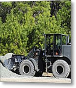 Equipment Operator Gathers A Load Metal Print