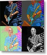 Eric Clapton Pop Metal Print