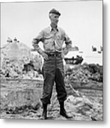 Ernie Pyle (1900-1945). American Journalist. Photograph, C1942 Metal Print