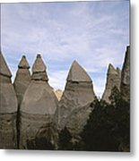 Erosion-chiseled Rock Formations Formed Metal Print