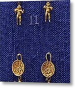 Erotes Earrings Metal Print