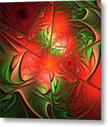 Eruption - Abstract Art Metal Print