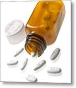 Erythromycin Antibiotic Pills Metal Print