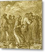 Escaping To Underground Railroad Metal Print