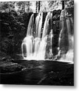 Ess-na-crub Waterfall On The Inver River In Glenariff Forest Park County Antrim Northern Ireland Uk Metal Print
