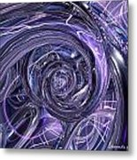 Eternal Depth Of Abstract And Chrome Fx  Metal Print