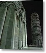 Ethereal Moonlight Scene Of Duomo Santa Metal Print by Carson Ganci