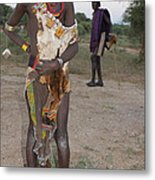 Ethiopia-south Tribesman Boy No.3 Metal Print