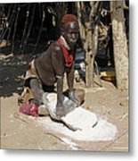 Ethiopia-south Tribesman No.1 Metal Print