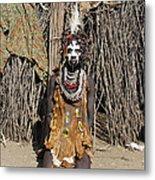 Ethiopia-south Tribesman No.2 Metal Print
