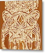 Ethnic Abstract Unique Art Print Original Bown Beige Earthy Cool Contemporary Art House Decorator  Metal Print