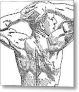 Eugene Sandow (1867-1925) Metal Print