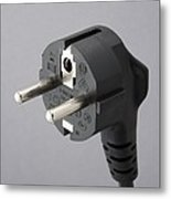 European Mains Plug Metal Print