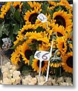 European Markets - Sunflowers And Roses Metal Print