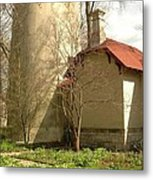 Evanston Illinois Lighthouse In Spring Metal Print