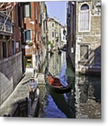 Even A Gondolier Has To Take A Break Metal Print