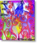 Even In Chaos Find Love Metal Print