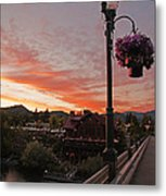 Evening Color Over Taprock Metal Print